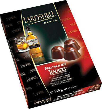 LaRoshell Teacher's Scotch Whiskey Filled Chocolates - 150 g/5.25 oz