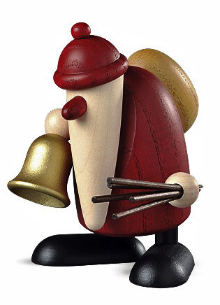 Bjoern Koehler Kunsthandwerk - Santa with Bell and  rod