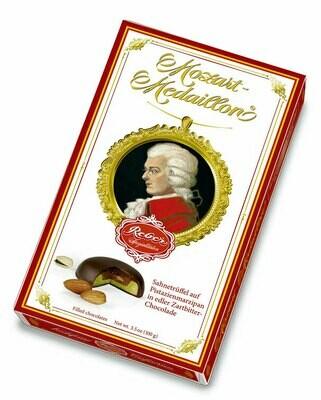 Mozart-Medaillon, 10er-Packung, Zartbitter-Chocolade, 100g/3.5 Oz