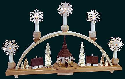 Richard Glaesser  Addon Star Decorations for Schwibboegen 6x6 cm