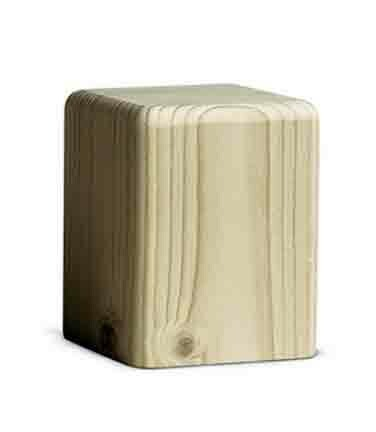 Bjoern Koehler Kunsthandwerk - Wooden Block Natural wood - Medium