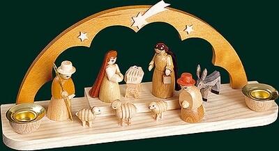 Glaesser Candle Holder - Birth Scene Jesus Christ 2