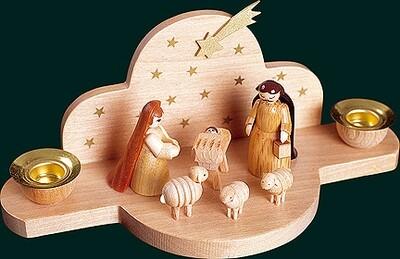 Glaesser Candle Holder - Birth Scene Jesus Christ 3