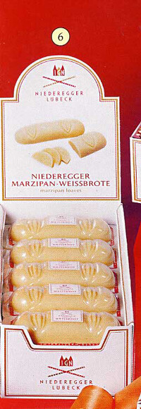 Niederegger White Marzipan Loaves  - 125g/4.5 oz