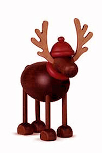 Bjoern Koehler Kunsthandwerk - Reindeer 'Rudolf' Standing