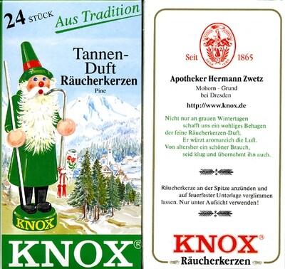 KNOX Incense Cones,  Pine Tree Aroma (Large)