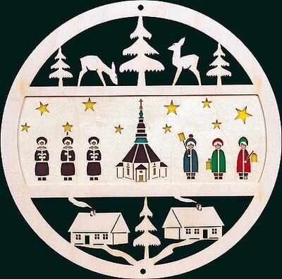 Glaesser Window Decoration - Seiffen Church with Boys Choir