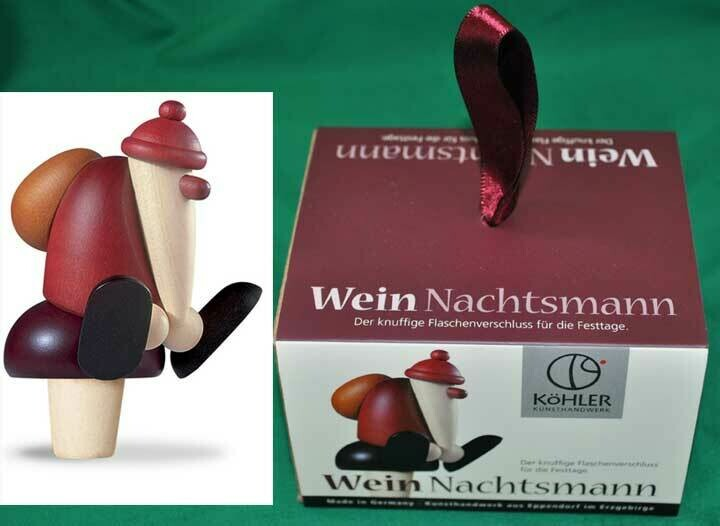 Bjoern Koehler Kunsthandwerk - Santa 'Red Wine Bottle Cork'