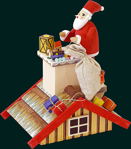 Glaesser Incense Smokers - Roof with Santa