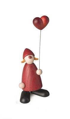 Bjoern Koehler Kunsthandwerk - Santa's Wife with Heart ballon