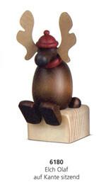 Bjoern Koehler - Elk/Moose 'Olaf' Sitting on wooden block