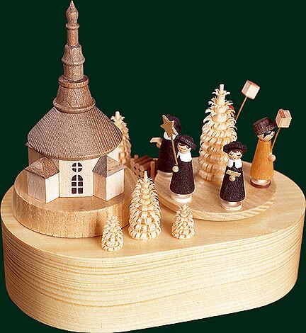 Richard Glaesser Music Box - Christmas work shop.