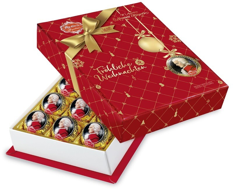 Mozart-Barock« 15er-Packung, Zartbitter-Chocolade in Christmas Decor