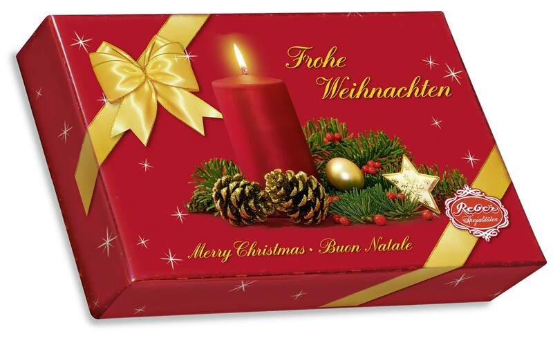 Reber Marzipan Specialty Gift Box with Christmas Decor,  525g/18.67 Oz