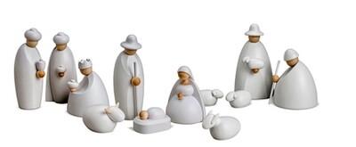Bjoern Koehler Small Nativity Scene Figures - 12 cm SNOW WHITE