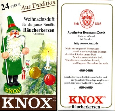 KNOX Incense Cones,  Christmas (Large)