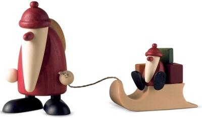 Bjoern Koehler Kunsthandwerk - Santa with Sleigh and Santa Child