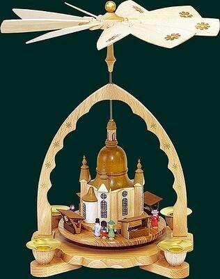 Glaesser - Pyramid  Church of our Lady with 'Striezelmarkt'