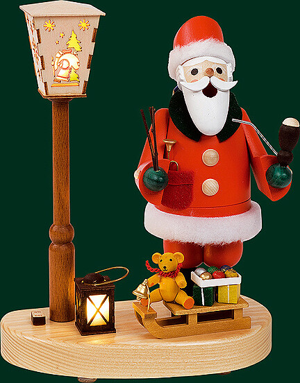 Glaesser Incense Smokers - Santa at Lantern with battery