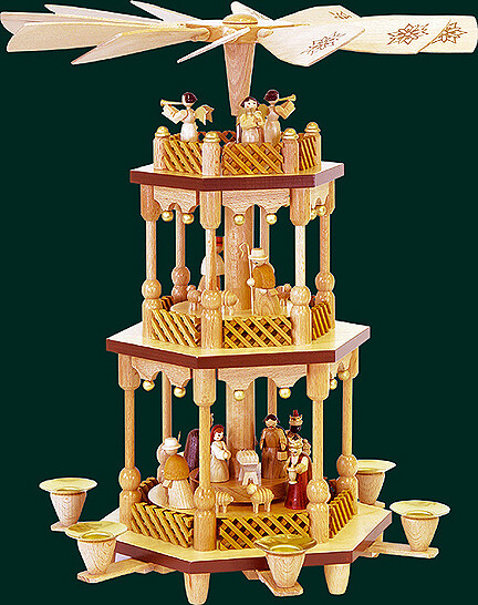 Glaesser - Pyramid  2-tiers Birth of Jesus Christ