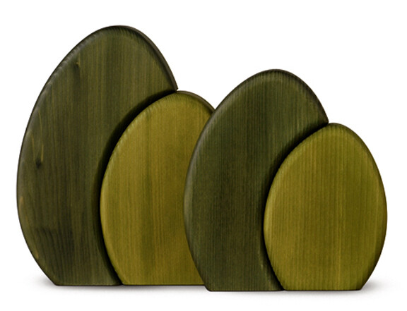 Bjoern Koehler Kunsthandwerk - Shrub for Wallframe - Green 15 cm