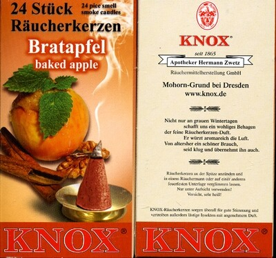 KNOX Incense Cones, Baked Apple (Large)