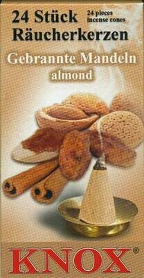KNOX Incense Cones,  Roasted Almond Aroma (Large)