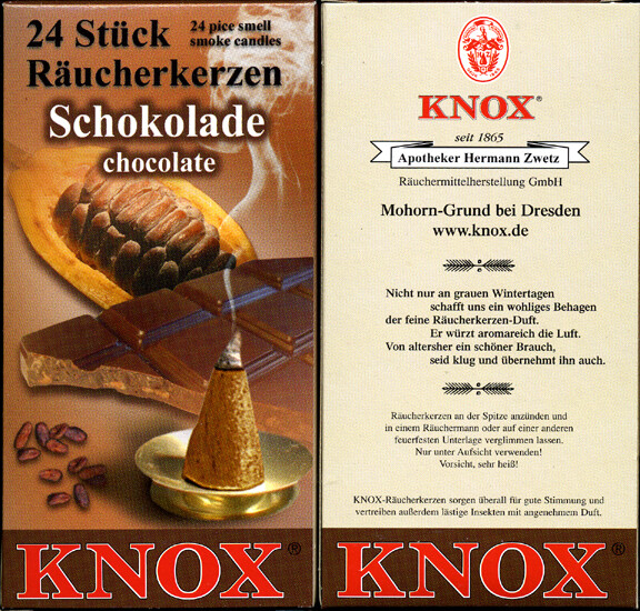 KNOX Incense Cones, Chocolate (Large)
