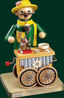Glaesser Incense Smokers - Organ-grinder, with music