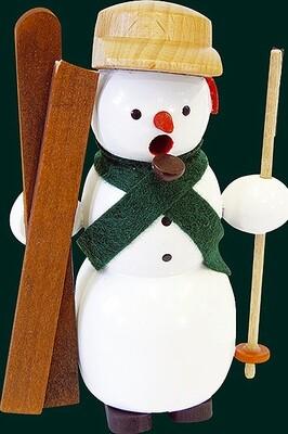 Glaesser Incense Smoker - Snowman with skies