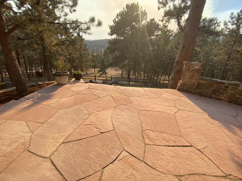 Colorado Red Artistic Cut Flagstone Patio