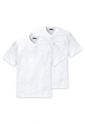 Schiesser American T-shirt met v-hals 2p