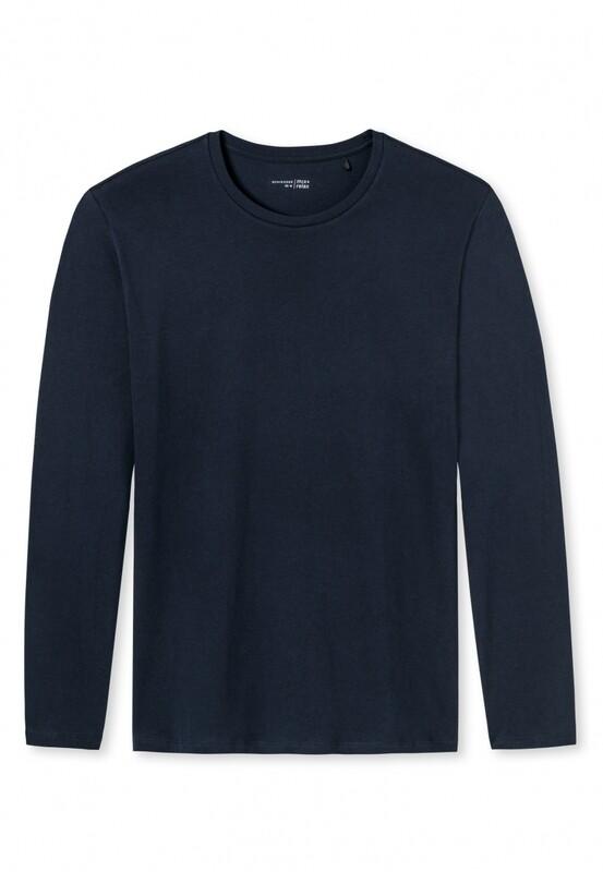Schiesser T-shirt met lange mouw en ronde hals Mix+Relax