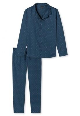 Schiesser geweven pyjama doorknoop