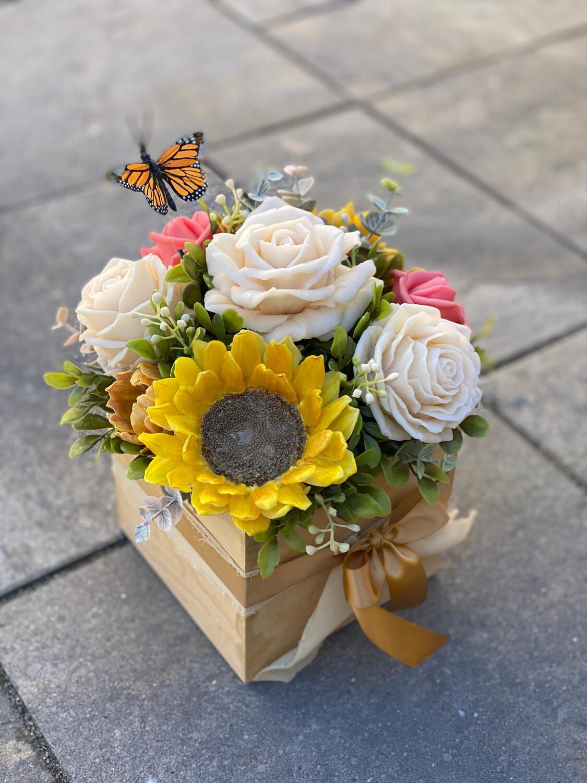 Ivory Rose & Sunflower