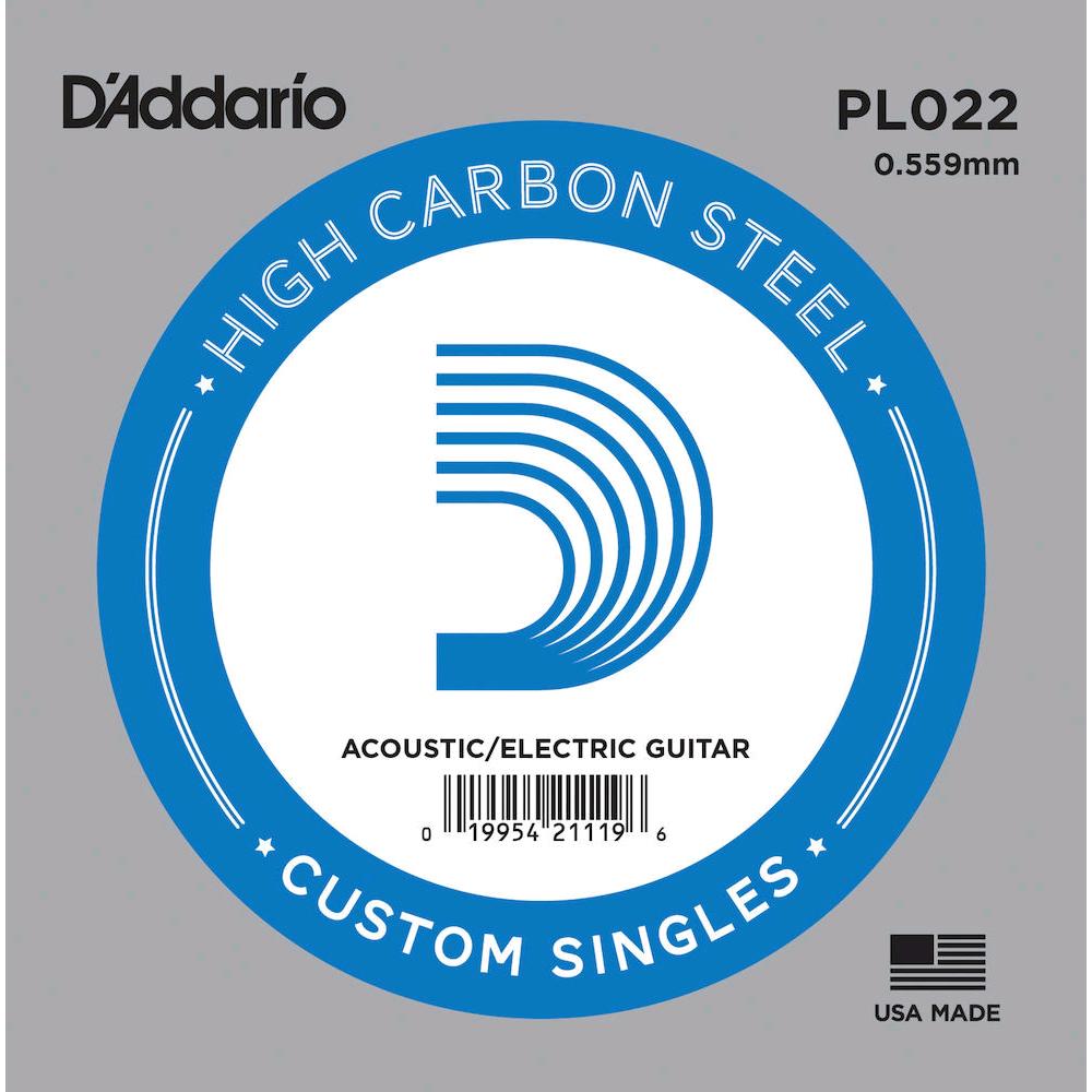 D'ADDARIO PL022 SINGLE .022 PLAIN STEEL