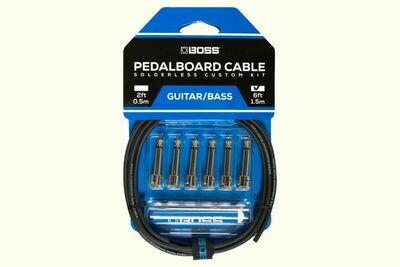 BOSS BCK-6 SOLDERLESS PEDALBOARD CABLE KIT (6 CONNECTORS. 6ft CABLE)