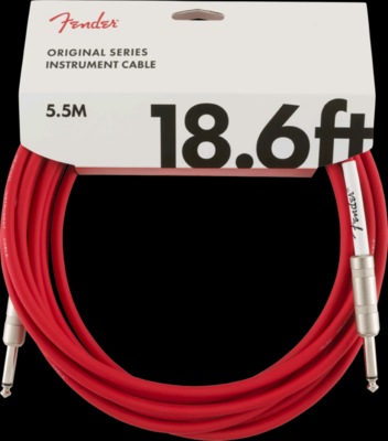FENDER 099-0520-010 ORIGINAL 18.6' INSTRUMENT CABLE /FIESTA RED