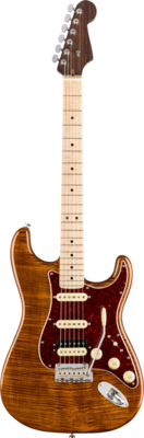 FENDER 017-6504-871 RARITIES FLAME MAPLE TOP STRATOCASTER ROSEWOOD NECK w MAPLE FINGERBOARD /GOLDEN BROWN /CASE