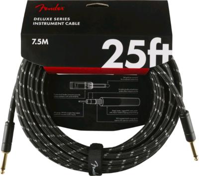FENDER 099-0820-075 DELUXE 25' INSTRUMENT CABLE /BLACK TWEED