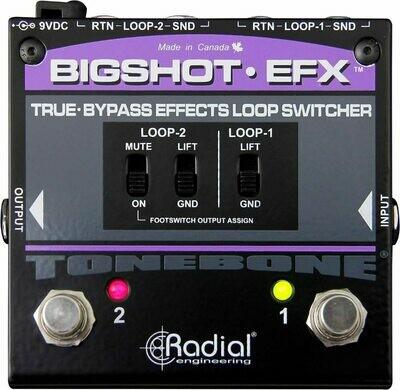 RADIAL BIGSHOT EFX v2 effect loop(2) switch w/LED