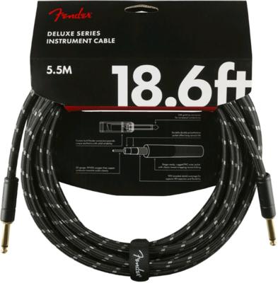 FENDER 099-0820-080 DELUXE 18.6' INSTRUMENT CABLE /BLACK TWEED