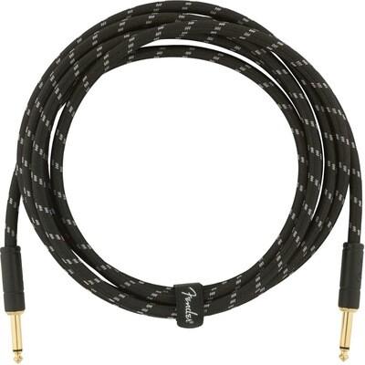 FENDER 099-0820-092 DELUXE 10' INSTRUMENT CABLE /BLACK TWEED