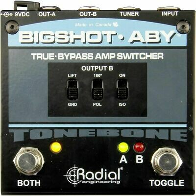 RADIAL BIGSHOT ABY TRUE-BYPASS SWITCHER w/LEDS