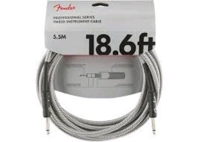 FENDER 099-0820-069 PRO 18.6' INSTRUMENT CABLE /WHITE TWEED