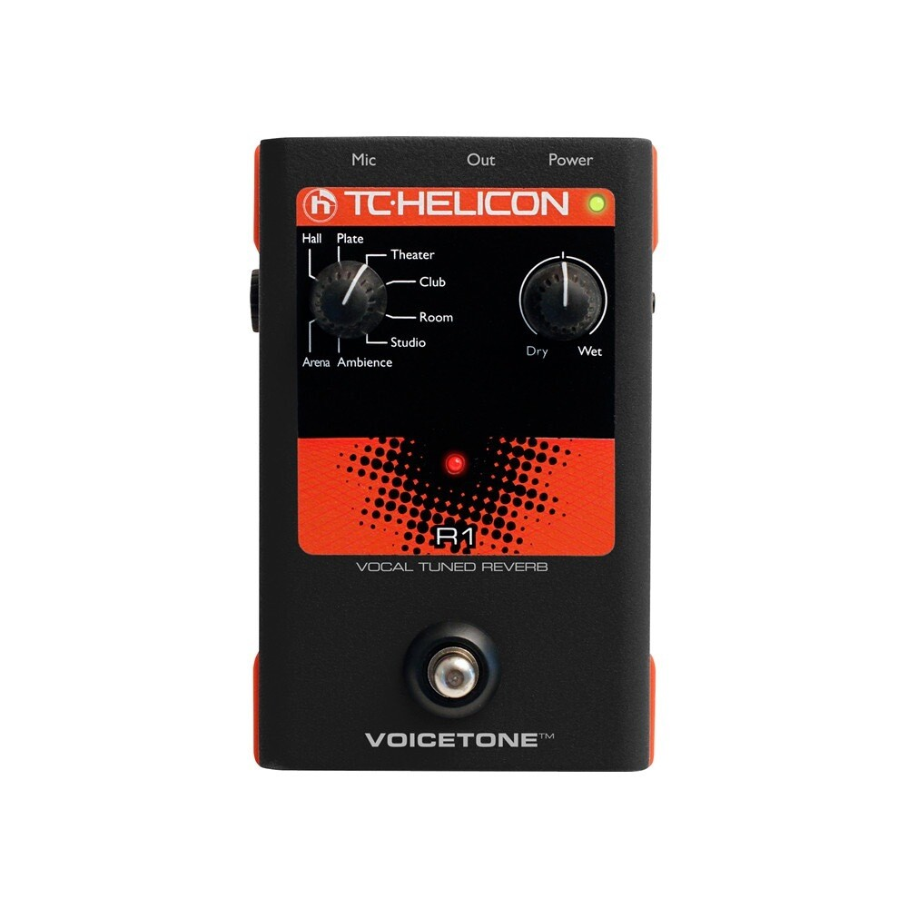 TC HELICON TH-VOICETONE-R1 Single-Button Stompbox for Studio-Quality Live
