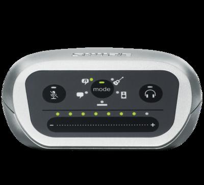 SHURE MVI USB AUDIO INTERFACE (1CH) FOR iOS. Android. Mac & PC (Inclus câble USB & Lightning)