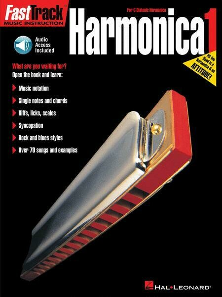 FAST TRACK 695407 HARMONICA METHOD BOOK 1 w/CD