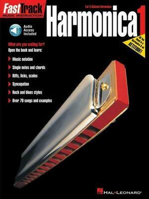 FAST TRACK 695407 HARMONICA METHOD BOOK 1 w/CD