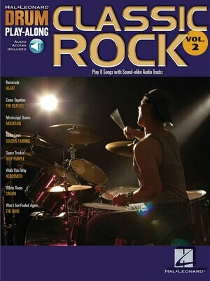 HAL LEONARD DRUM PLAY-ALONG VOLUME 2 BOOK/ONLINE AUDIO - CLASSIC ROCK